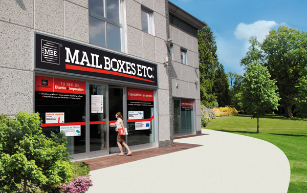 Mail Boxes Etc ,franquicia MBE, servicios de transporte, diseño gráfico, impresión, mail boxes franquicia