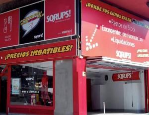Sqrups!, franquicia, tienda de oportunidades, liquidaciones, restos de stock, barato