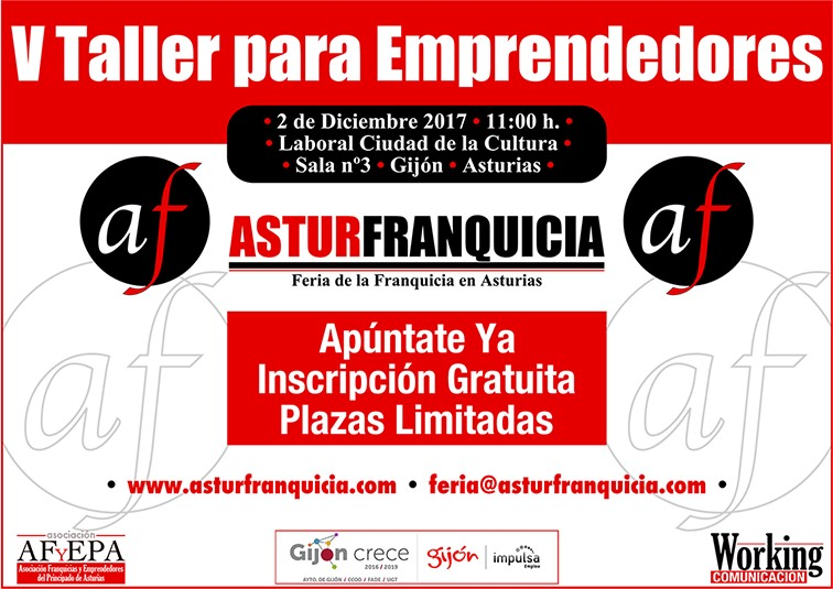 Taller para Emprendedores celebra su 5ª edición en la feria de franquicias AsturFranquicia 2017