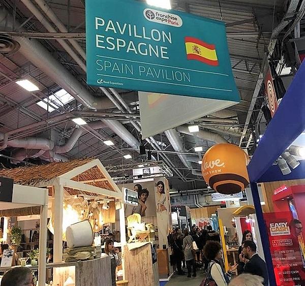 Pabellón Español en la feria de franquicias de París